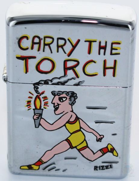 James Rizzi Zippo Feuerzeug CARRY THE TORCH