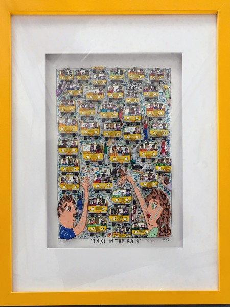 TAXI IN THE RAIN (1993) 149/350 - James Rizzi