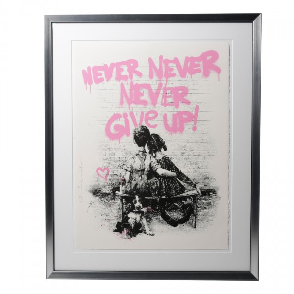 DON'T GIVE UP! PINK - MR. BRAINWASH