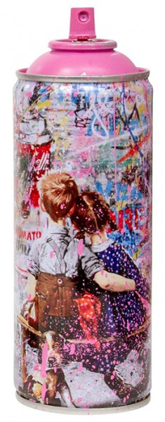 'WORK WELL TOGETHER' 2020 SPRAY CAN PINK by Mr. Brainwash