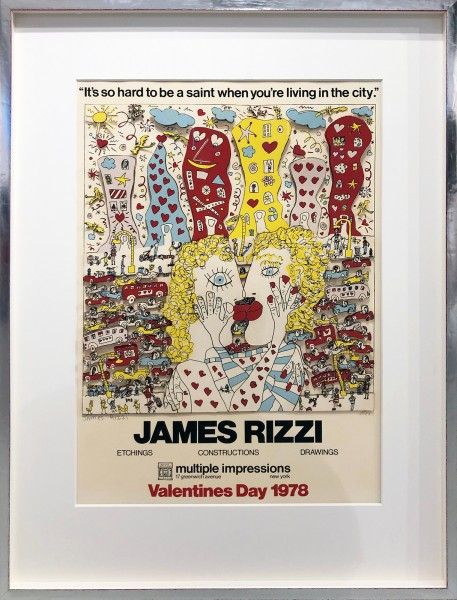 VALENTINES DAY NYC - JAMES RIZZI - UNIKAT (1978)