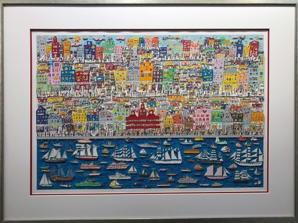 ON THE WATERFRONT 13/175 (1987) - James Rizzi