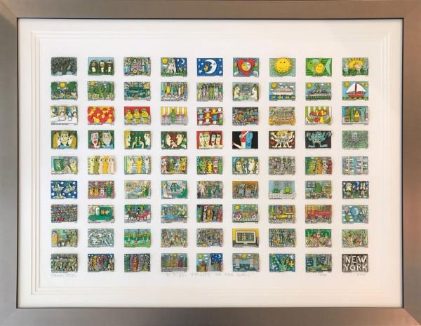 81 Rizzi Prints On The Wall (2002) inkl. Rahmen - James Rizzi