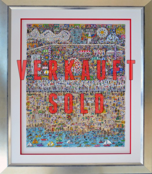 LETS GET LOST AT CONEY ISLAND (1991) - GERAHMT - James Rizzi