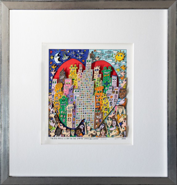 THE BIG APPLE IS BIG ON THE EMPIRE STATE BUILDING (1999) - JAMES RIZZI