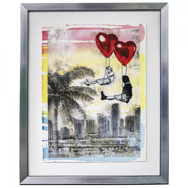 LOVE IS IN THE AIR -MIAMI (2019) UNIKAT - MR. BRAINWASH