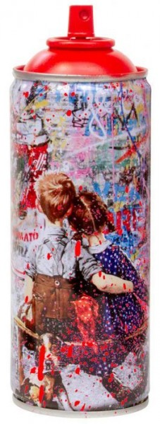 'WORK WELL TOGETHER' 2020 SPRAY CAN RED by Mr. Brainwash