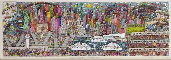 ALL ROADS LEAD TO NEW YORK CITY (2009) 3D - JAMES RIZZI inkl. Rahmen