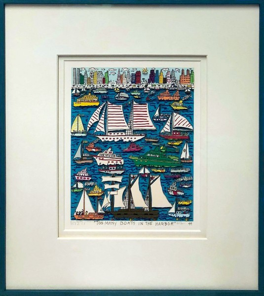 TOO MANY BOATS IN THE HARBOR (1989) - JAMES RIZZI