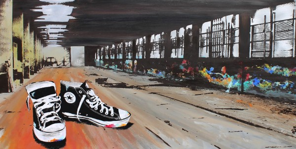 CHUCKS IN THE HALL - Aluminium - Michel Friess