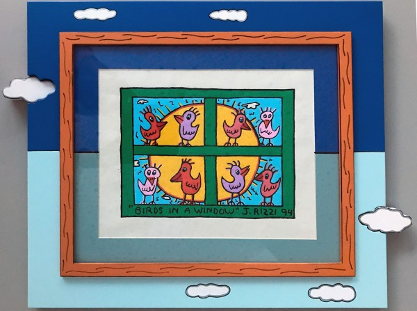 BIRDS IN A WINDOW - UNIKAT (1994) - JAMES RIZZI