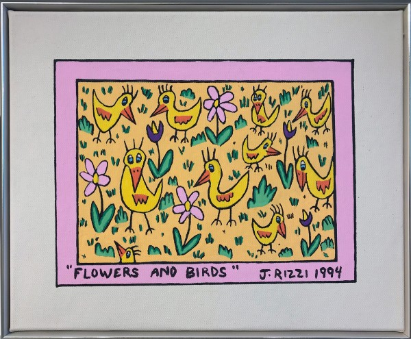 FLOWERS AND BIRDS (1994) - JAMES RIZZI UNIKAT