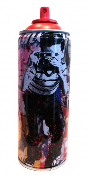 'SMILE' 2020 SPRAY CAN RED by Mr. Brainwash