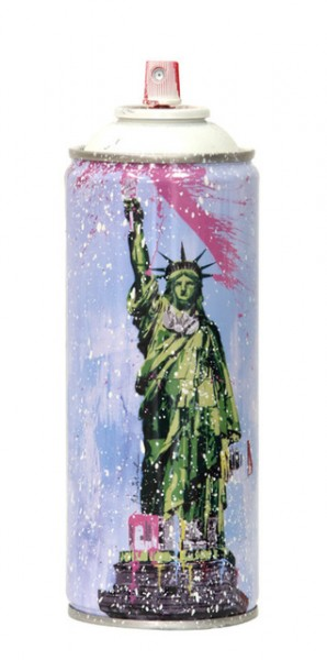 'LIBERTY' 2020 SPRAY CAN WHITE by Mr. Brainwash