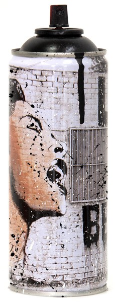 'BILLIE IS BEAUTIFUL' 2020 SPRAY CAN BLACK by Mr. Brainwash