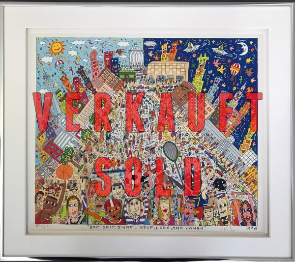 HOP, SKIP, JUMP ... STOP, LOOK, AND LAUGH (1996) MANNHEIMBLATT - JAMES RIZZI