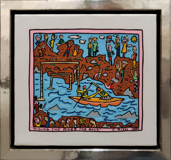 RIDING THE RIVER FOR GOLD (1994) UNIKAT - JAMES RIZZI