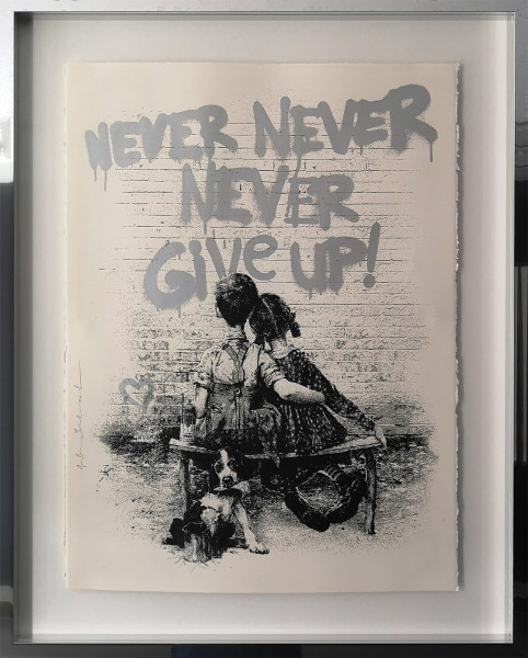 DON'T GIVE UP! SILVER - MR. BRAINWASH