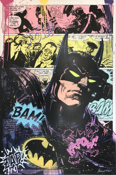 BATMAN COMIC ACTION - LEINWAND - Michel Friess