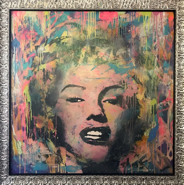 CRAZY COLORED MARILYN - LEINWAND - Michel Friess