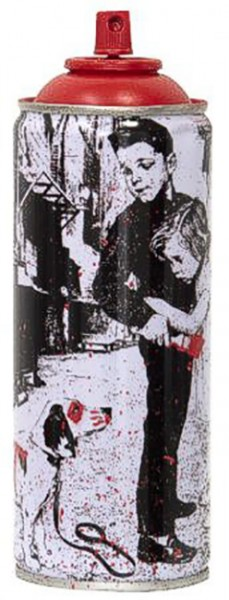 'PUP ART' 2020 SPRAY CAN RED by Mr. Brainwash