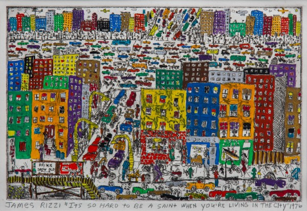 IT'S SO HARD TO BE A SAINT WHEN YOU'RE LIVING IN THE CITY (1976) - JAMES RIZZI