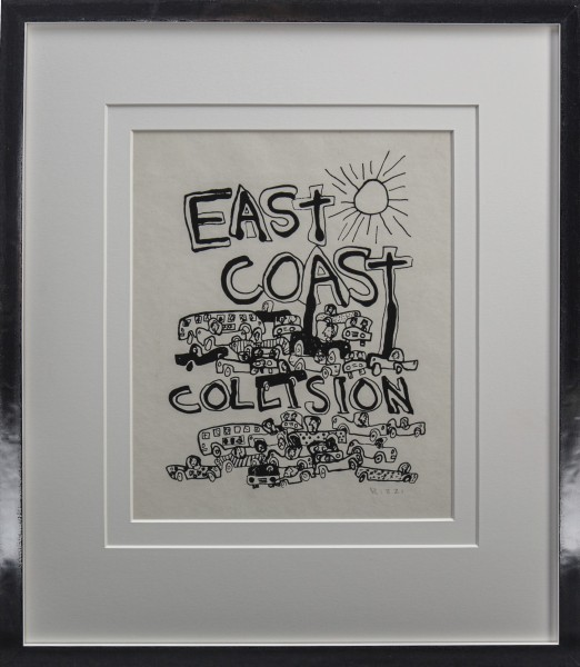 EAST COST COLLISION ( ca 1975) - JAMES RIZZI