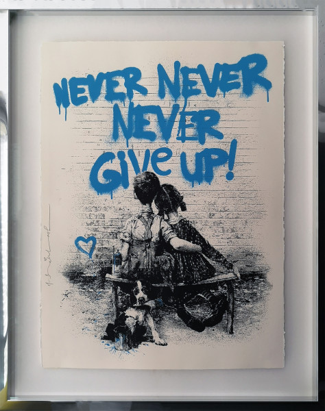 DON'T GIVE UP! BLUE - MR. BRAINWASH