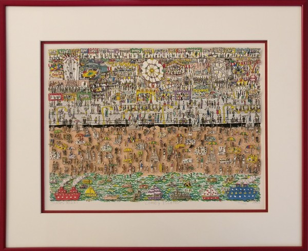 CONEY ISLAND (1983) - GERAHMT - James Rizzi