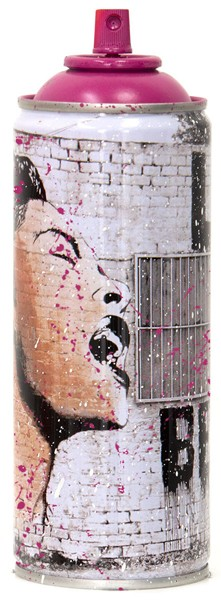 'BILLIE IS BEAUTIFUL' 2020 SPRAY CAN MAGENTA by Mr. Brainwash
