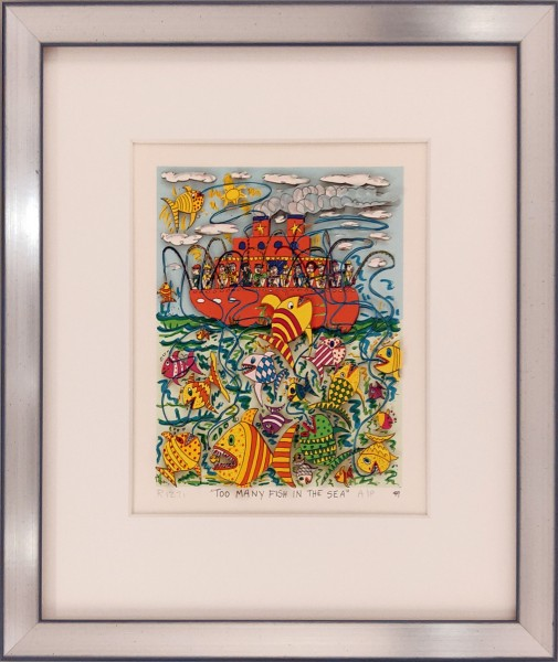 TOO MANY FISH IN THE SEA - A/P (1986) - JAMES RIZZI