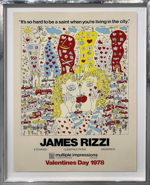 VALENTINES DAY NYC - JAMES RIZZI - PLAKAT (1978)