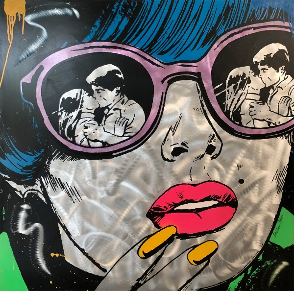 POP ART WOMAN WITH GLASSES - MICHEL FRIESS