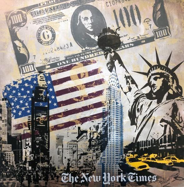 NEW YORK CRAZY DOLLAR FLAG MINI - MICHEL FRIESS