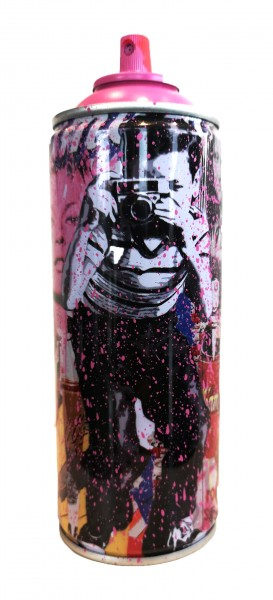 'SMILE' 2020 SPRAY CAN PINK by Mr. Brainwash