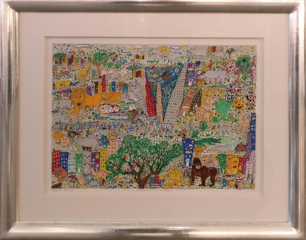 ITS A JUNGLE OUT THERE (1986) - JAMES RIZZI inkl. Rahmen