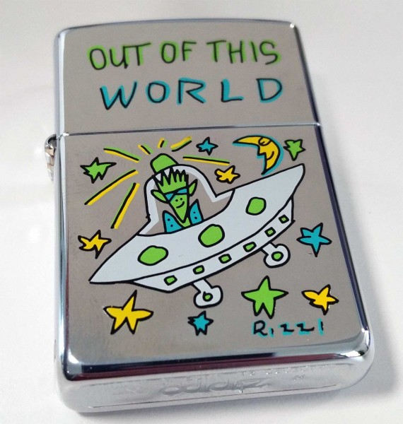 James Rizzi Zippo Feuerzeug OUT OF THIS WORLD