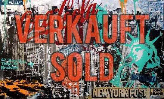 NEW YORK COLLAGE MIX - ALUMINIUM - Michel Friess