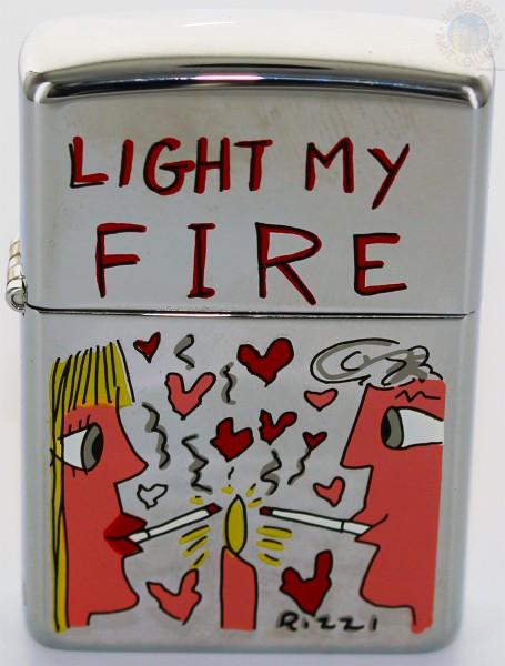 James Rizzi Zippo Feuerzeug LIGHT MY FIRE