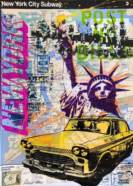 NEW YORK SUBWAY MAP - MICHEL FRIESS