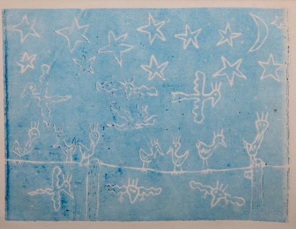 NIGHT BIRDS LIGHT BLUE (1980) - JAMES RIZZI